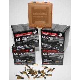 Pack cartouche Cal. 22 lr Winchester M22 X1600 + Boite de rangement offerte