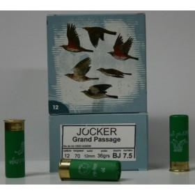 CARTOUCHE JOCKER GRAND PASSAGE 36GR BOURRE JUPE PLOMBS DE 7.5 CAL. 12/70 X25