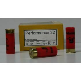 CARTOUCHE JOCKER PERFORMANCE 32 32GR BOURRE JUPE PLOMBS DE 7 CAL. 12/67 X25